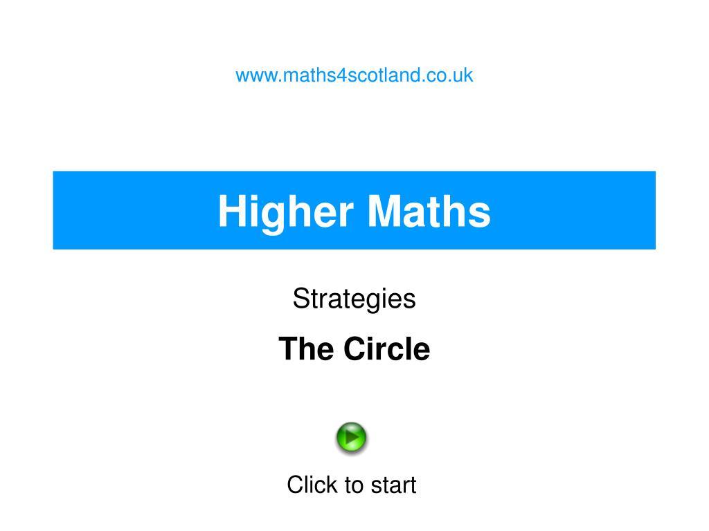 www.maths4scotland.co.uk