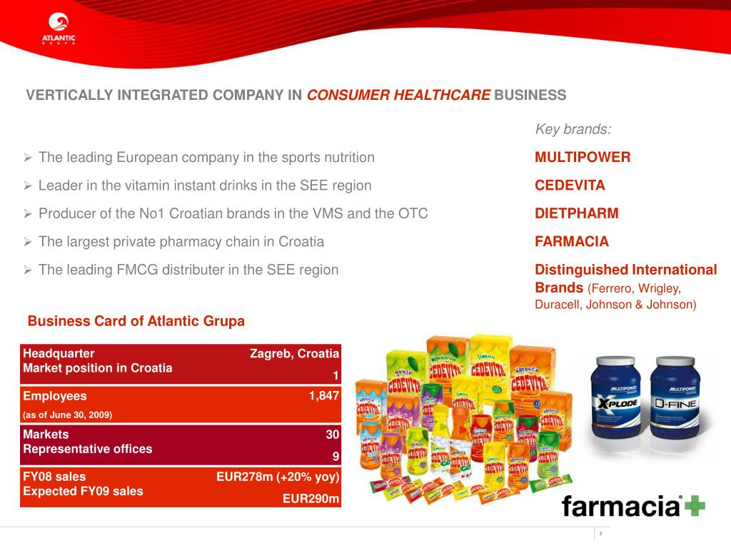 VERTICALLY INTEGRATED COMPANY IN