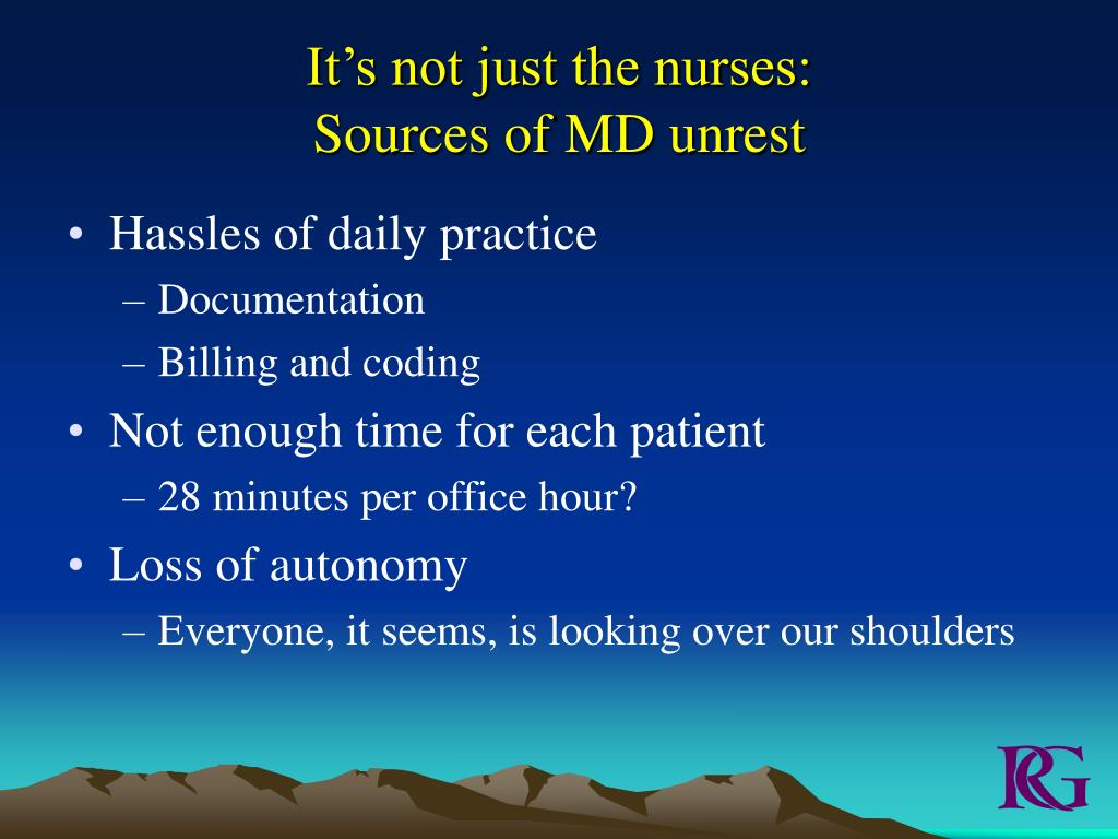 It's not just the nurses:
