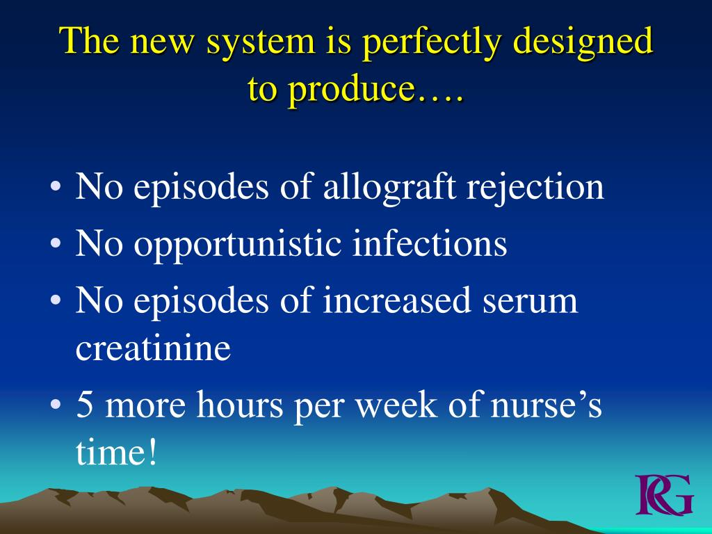 The new system is perfectly designed to produce….