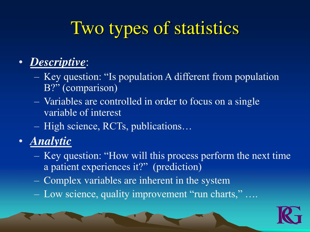 Two types of statistics