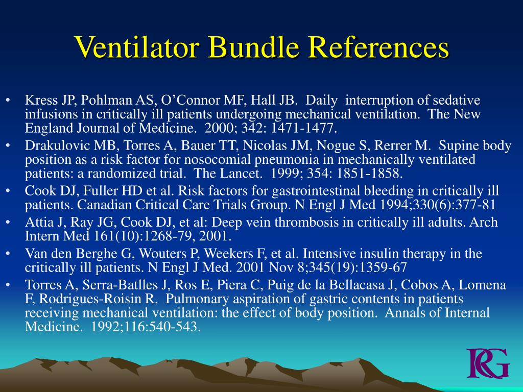 Ventilator Bundle References