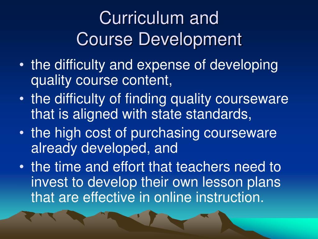 Curriculum and