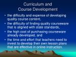 curriculum and course development