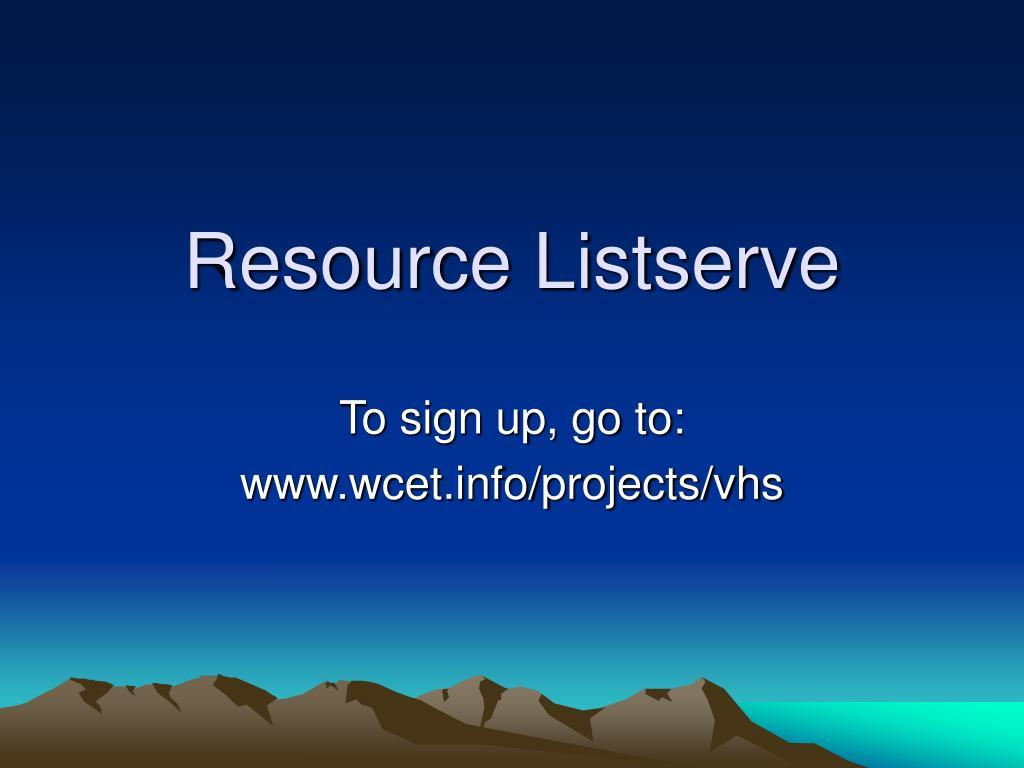 Resource Listserve