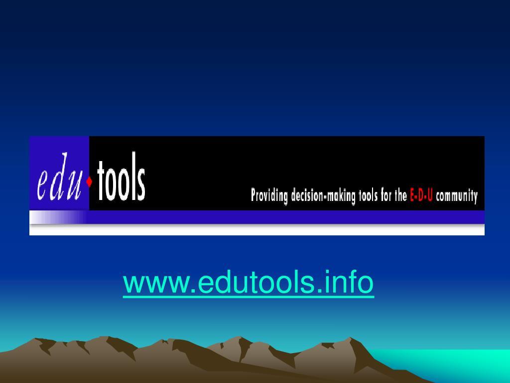 www.edutools.info