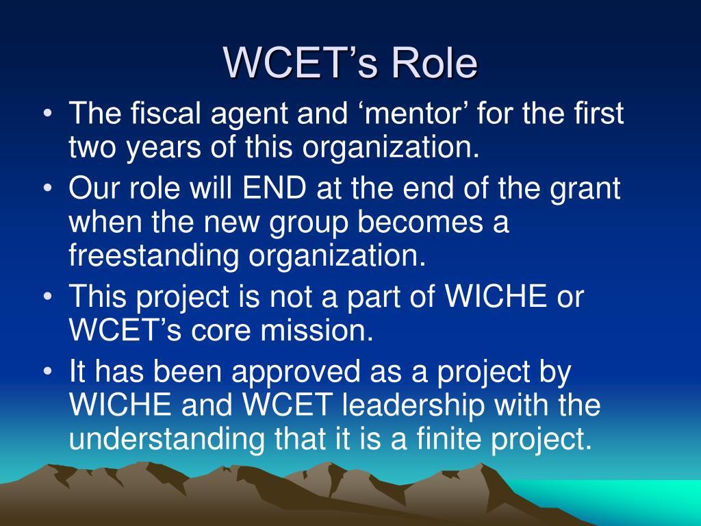 WCET's Role