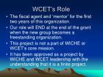 wcet s role