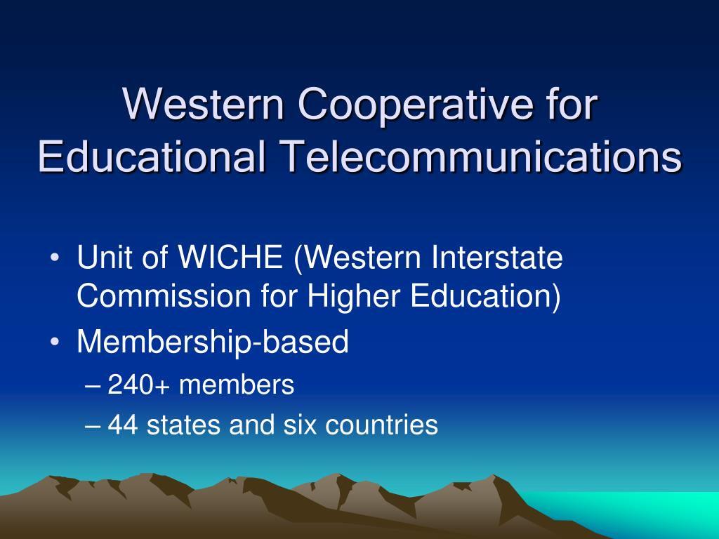Western Cooperative for Educational Telecommunications