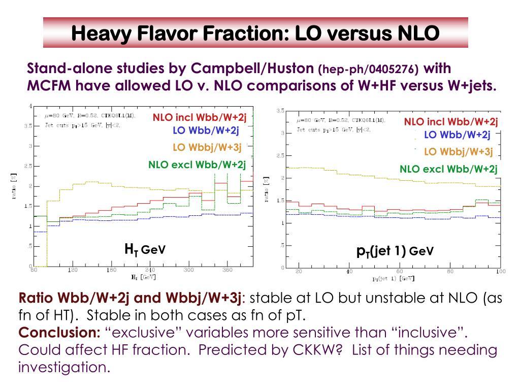NLO incl Wbb/W+2j