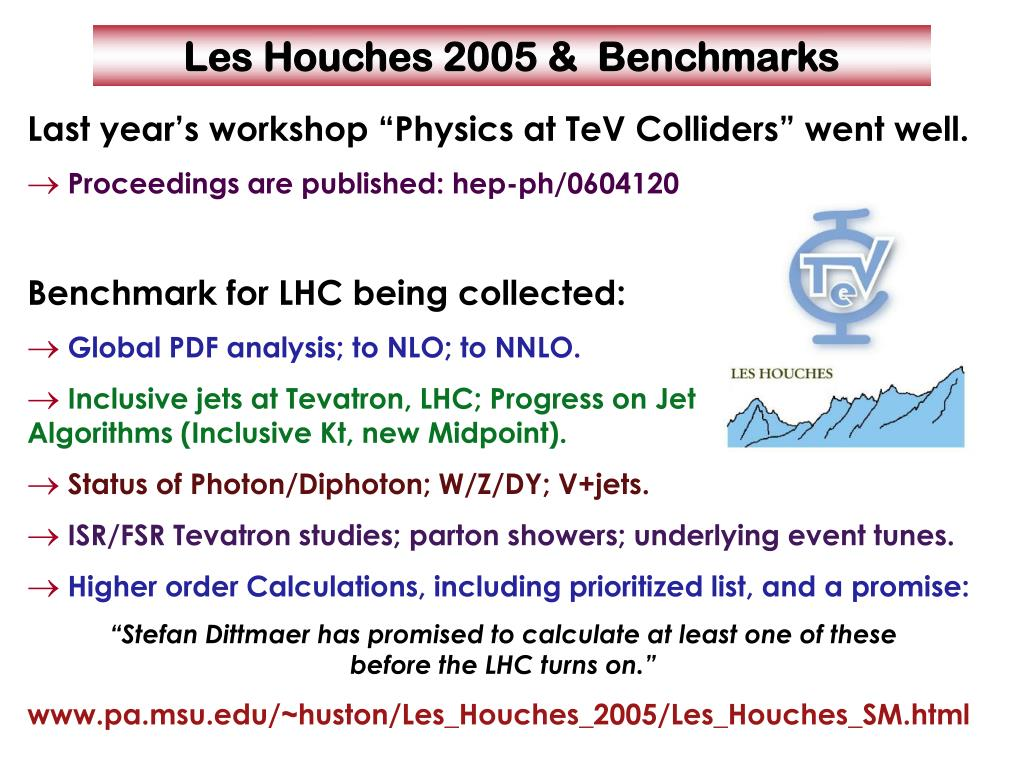 """Last year's workshop """"Physics at TeV Colliders"""" went well."""