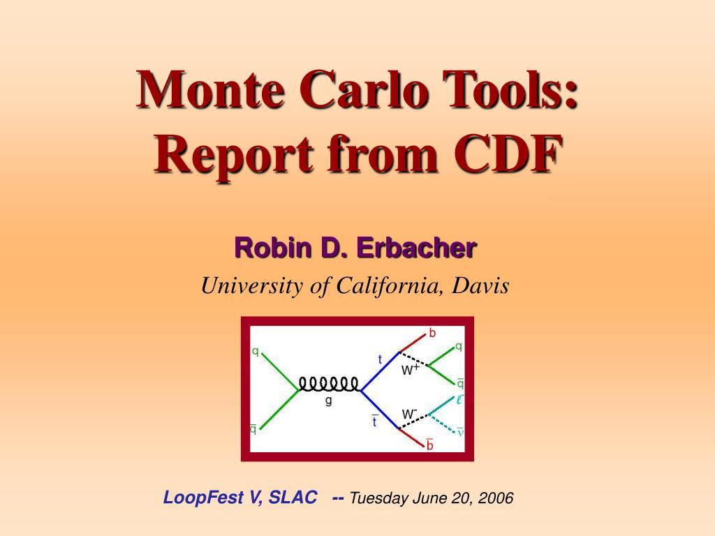 Monte Carlo Tools: