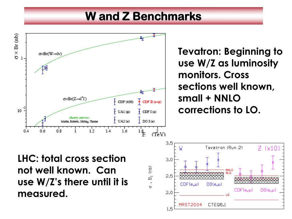 W and Z Benchmarks