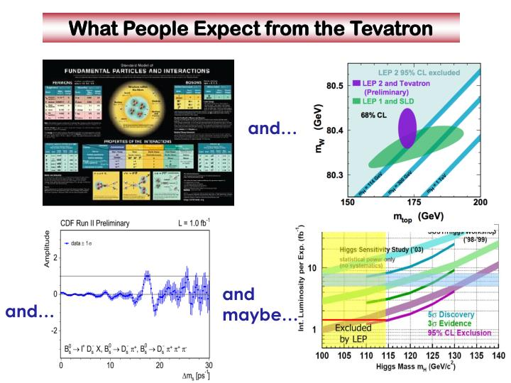 What people expect from the tevatron