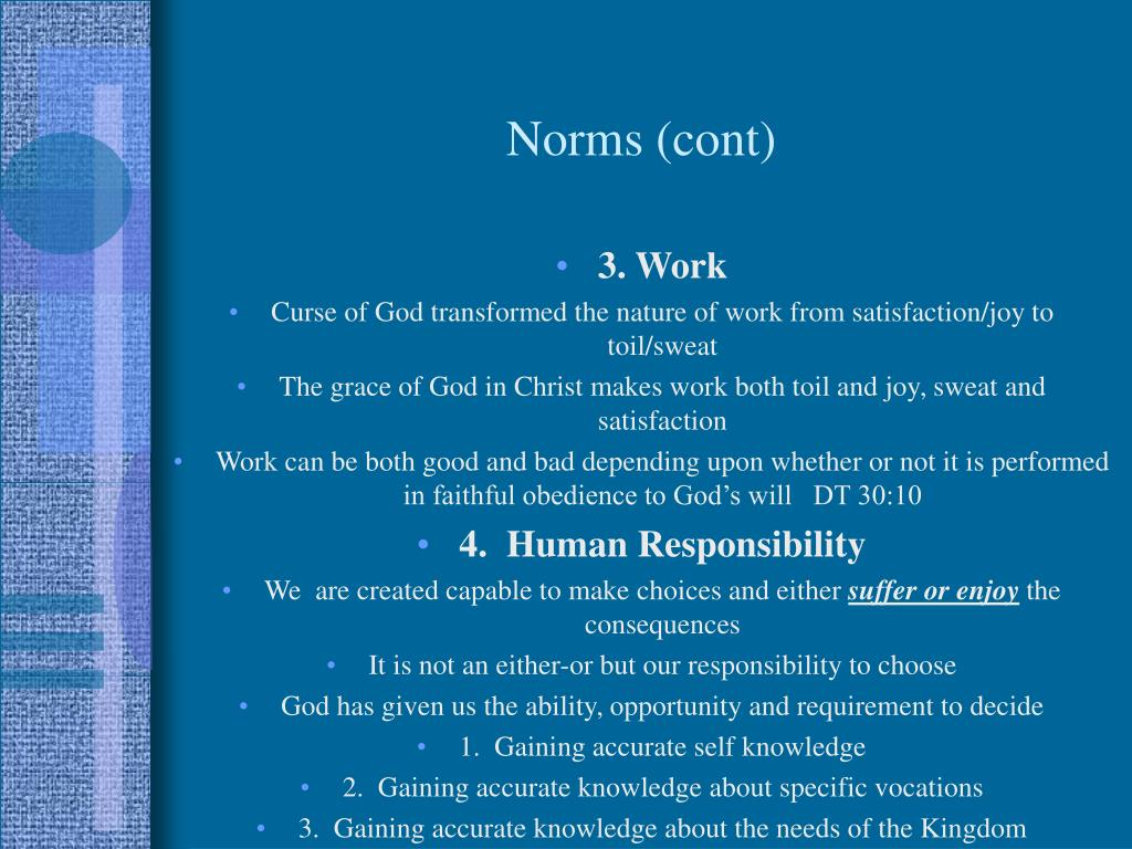 Norms (cont)