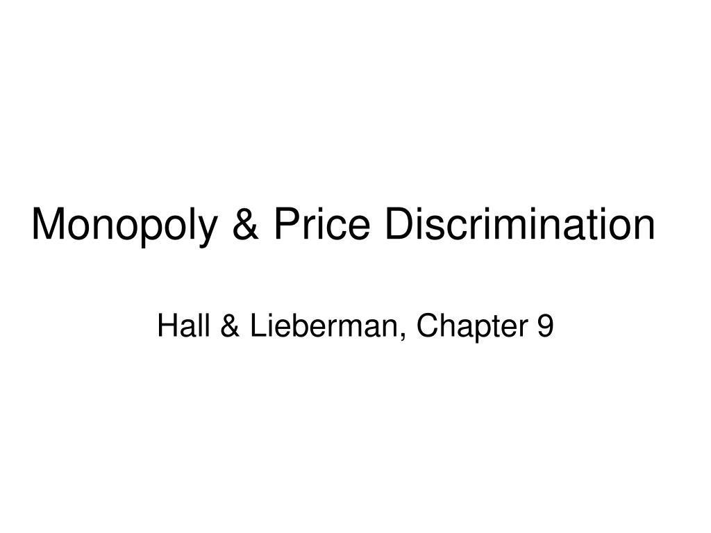 Monopoly & Price Discrimination