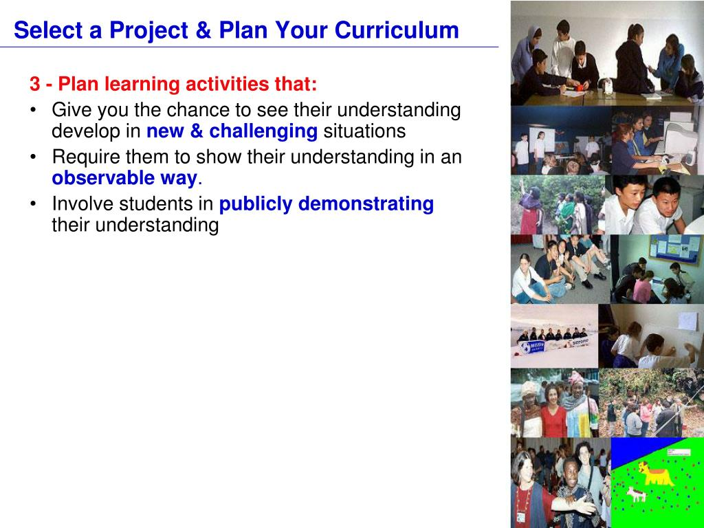 Select a Project & Plan Your Curriculum