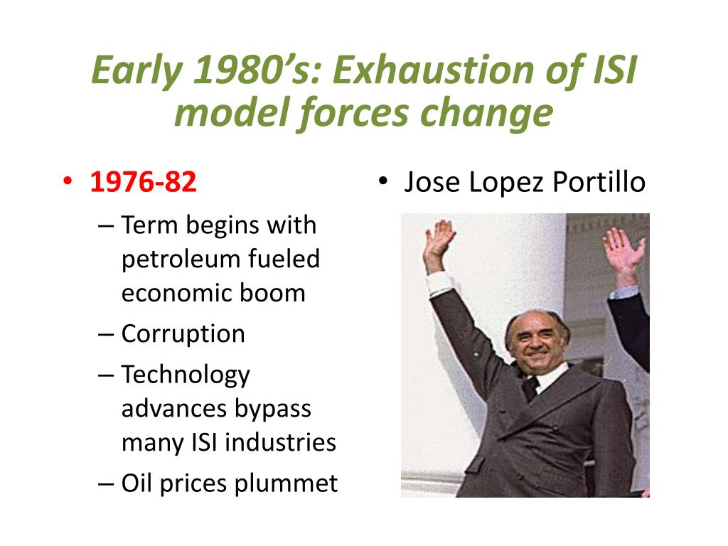 Early 1980's: Exhaustion of ISI model forces change