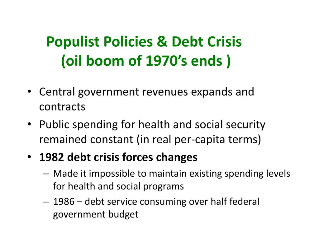 Populist Policies & Debt Crisis
