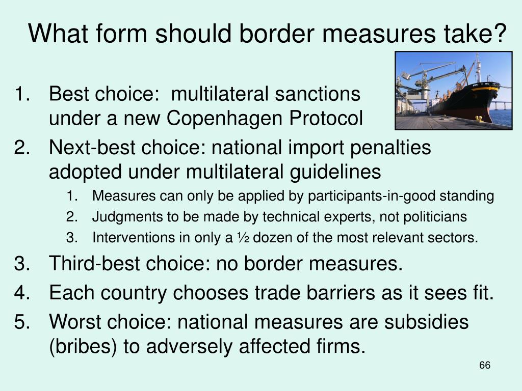What form should border measures take?