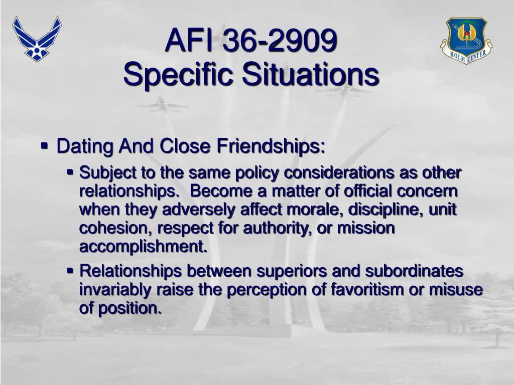 AFI 36-2909
