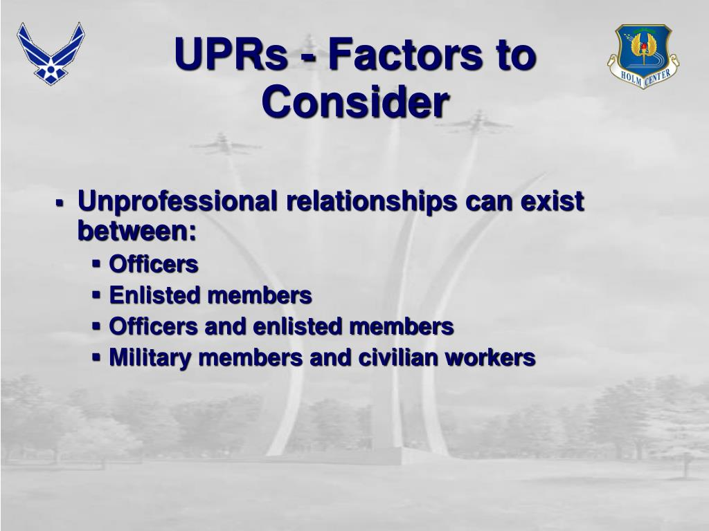 UPRs - Factors to Consider
