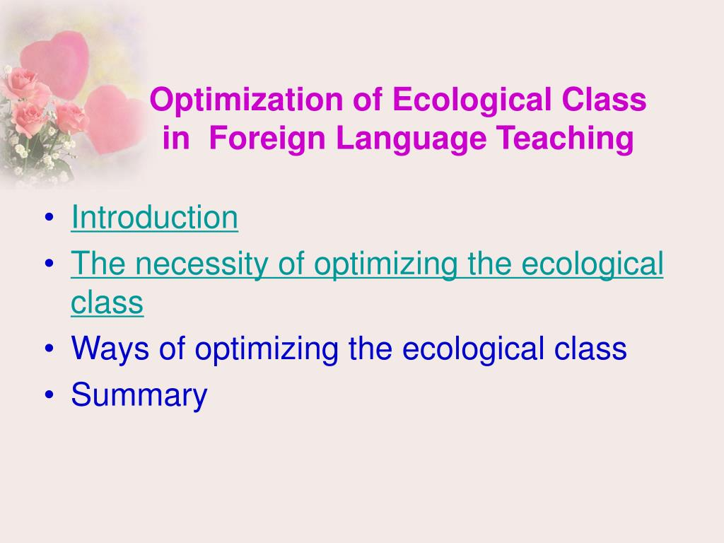 Optimization of Ecological Class