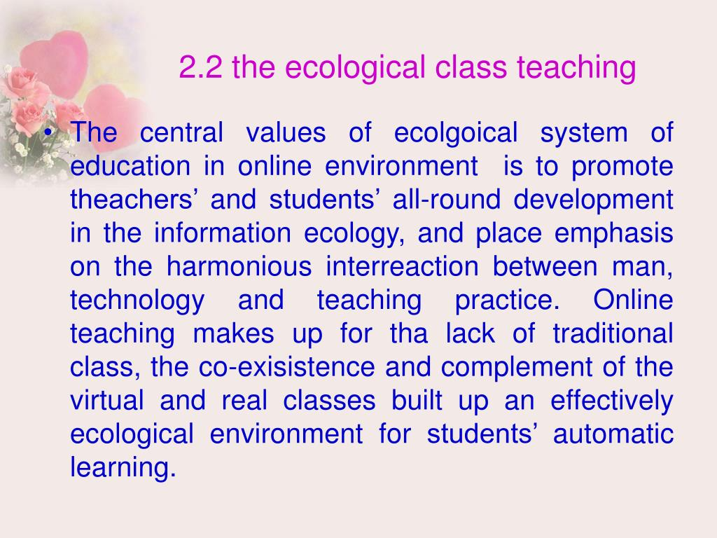 2.2 the ecological class teaching