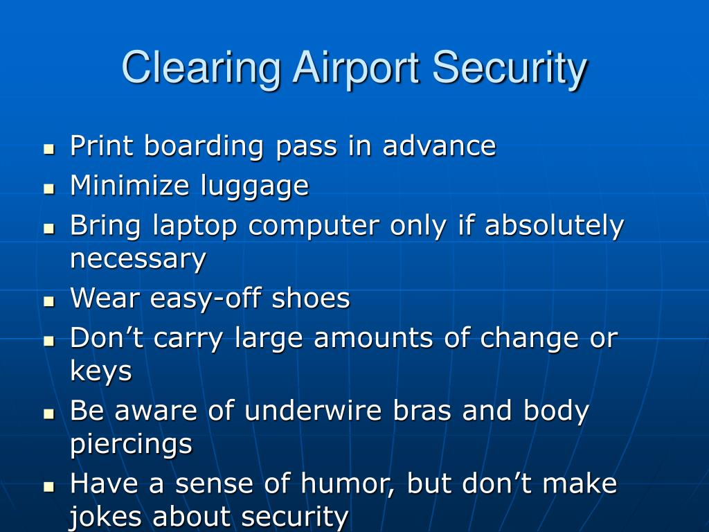 Clearing Airport Security