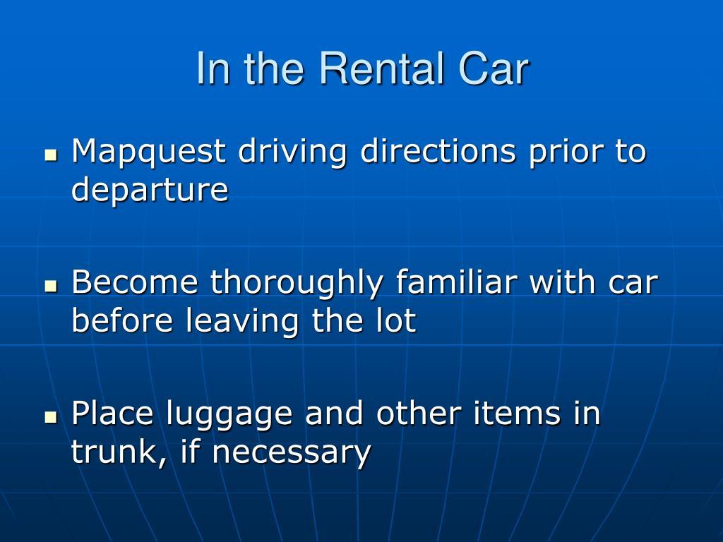 In the Rental Car
