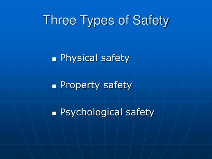 Three types of safety