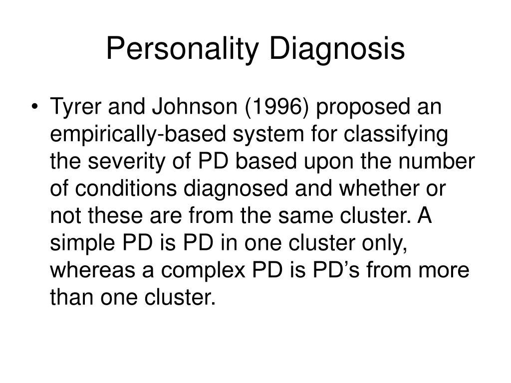 Personality Diagnosis