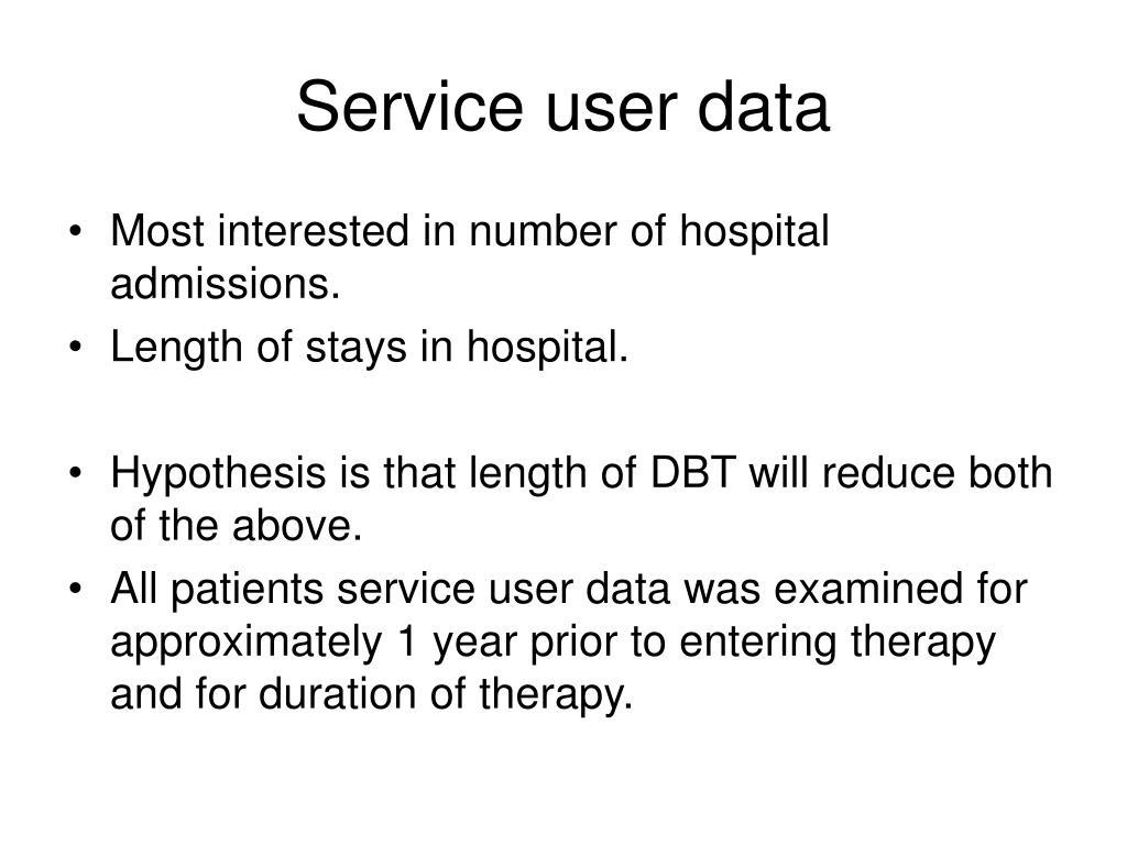 Service user data