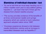 blemishes of individual character text14