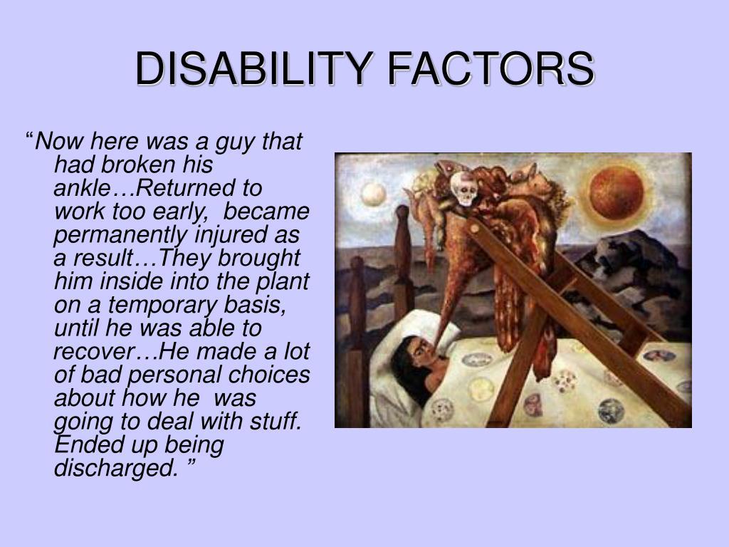 DISABILITY FACTORS