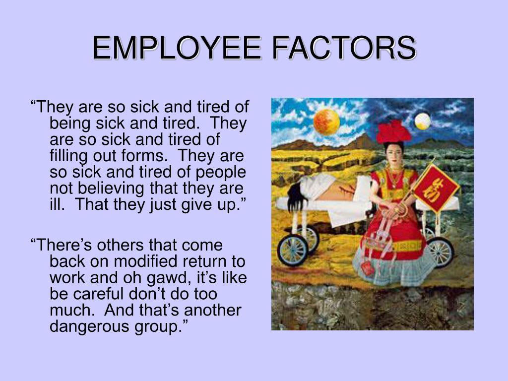 EMPLOYEE FACTORS