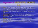 argument 3 geriatric giants e g