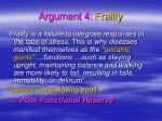 argument 4 frailty