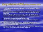 early influence of bgs barton and mulley 2003
