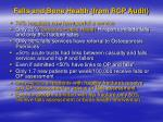 falls and bone health from rcp audit