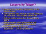 lessons for taiwan21
