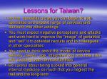 lessons for taiwan42