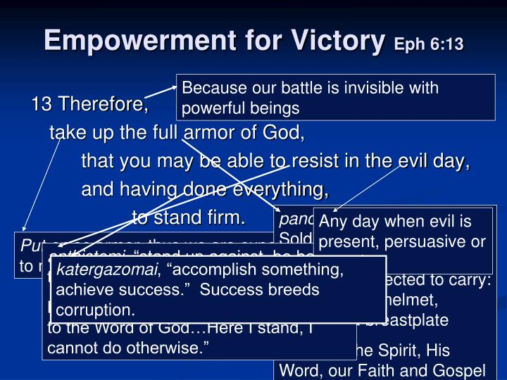 Empowerment for victory eph 6 13