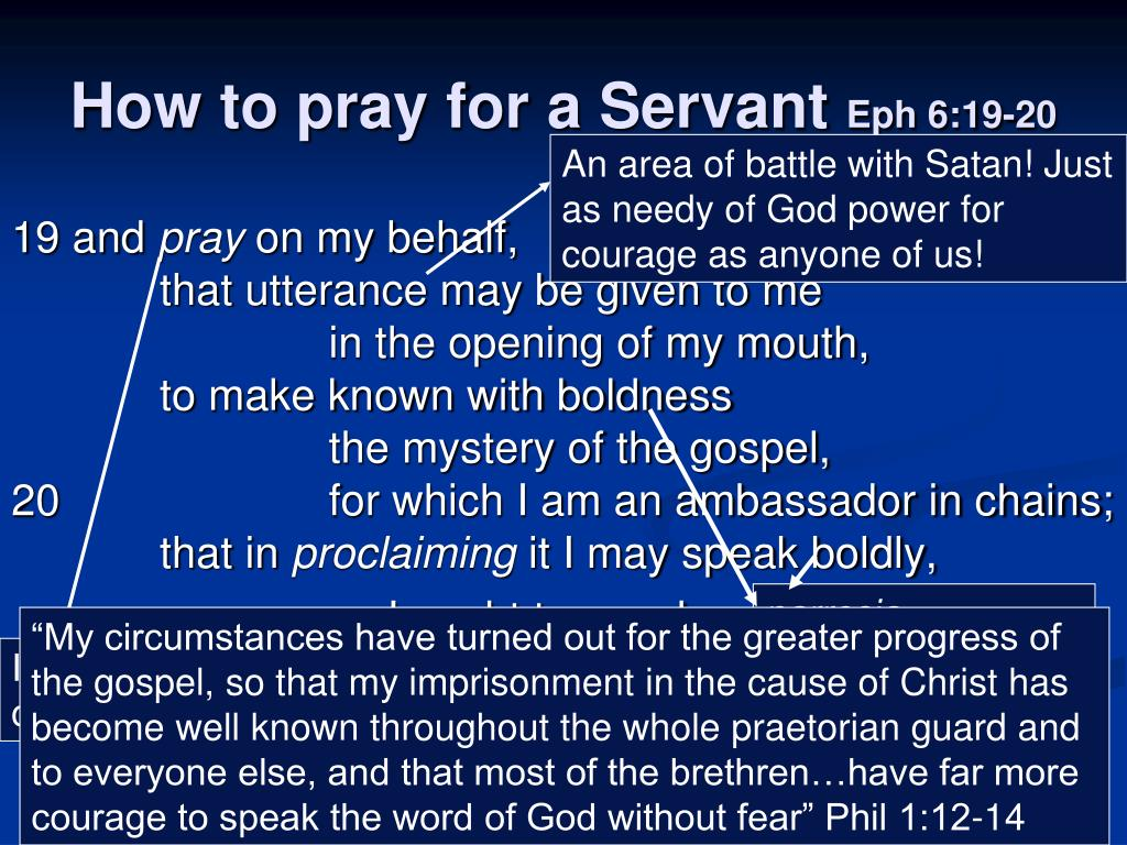 An area of battle with Satan! Just as needy of God power for courage as anyone of us!