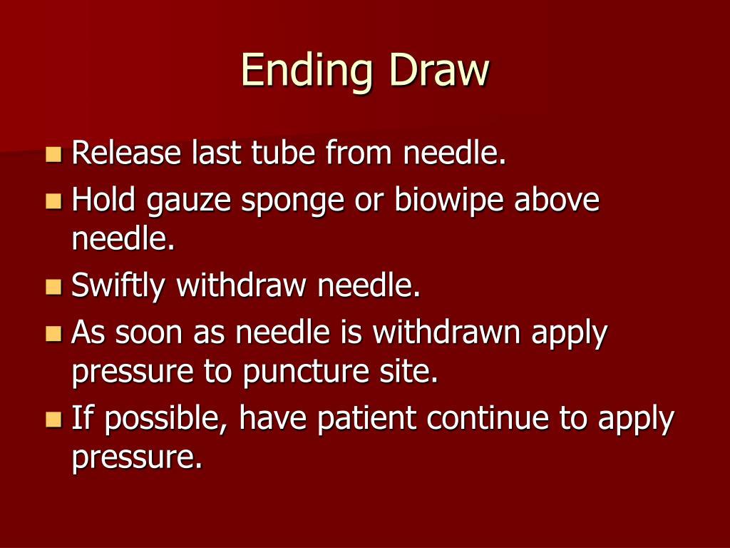Ending Draw