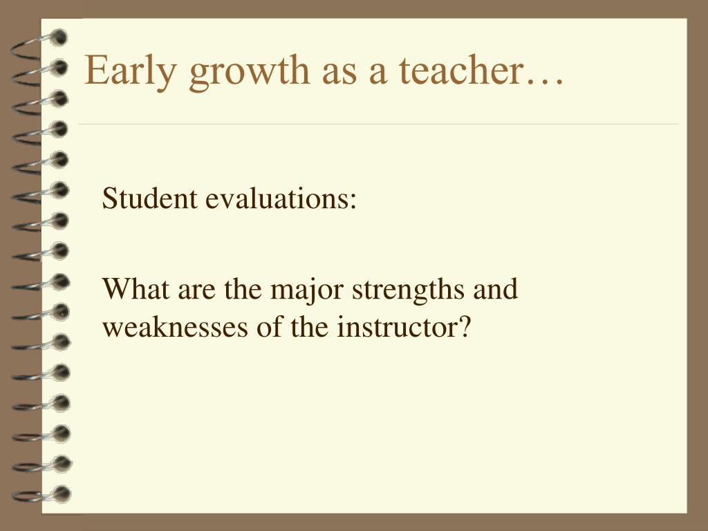 Early growth as a teacher…