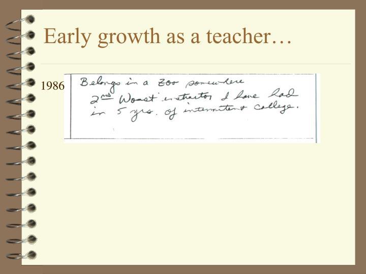 Early growth as a teacher3