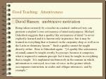 good teaching attentiveness