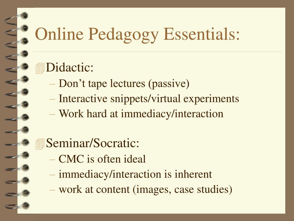 Online Pedagogy Essentials: