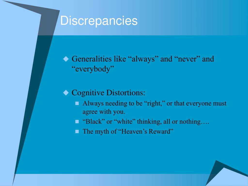Discrepancies